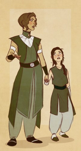 Avatar: The Legend of Korra wallpaper containing anime titled Su Beifong and Kuvira