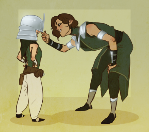 Avatar- A Lenda de Korra wallpaper probably with animê entitled Su Beifong and Kuvira