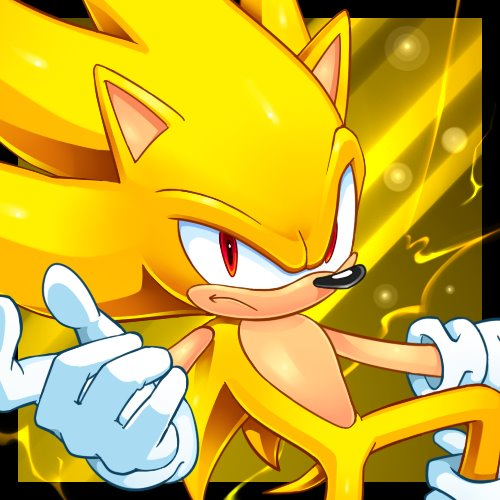 Sonic the Hedgehog achtergrond probably containing anime titled Super Sonic