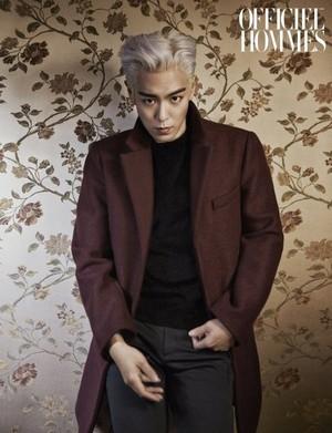 T.O.P on L'Officiel Hommes Jan 2015