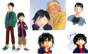 Tadashi, Hiro, GoGo and Honey