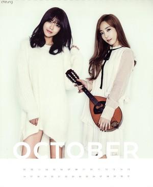 Taeyeon and Sooyoung (SNSD) - 2015 Calendar