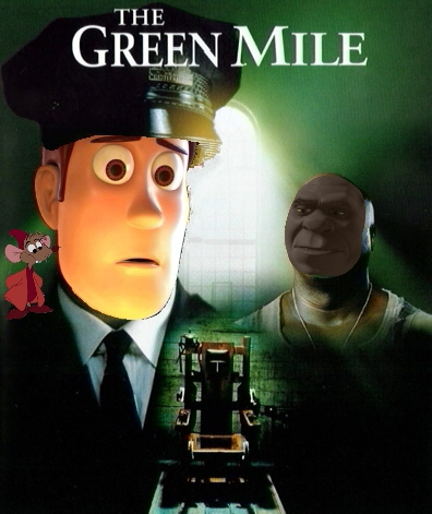 Disney crossover karatasi la kupamba ukuta possibly containing anime titled The Green Mile Disney Style