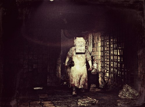 The Evil Within Wallpaper Containing A Street And Portcullis Titled Keeper AKA Boxman