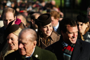 The Royal Family Attend Church On Weihnachten Tag
