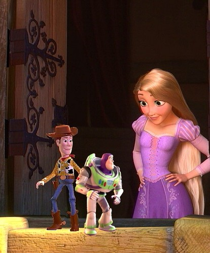 disney crossover wolpeyper entitled These Are My Best mga kaibigan Woody And Buzz Lightyear