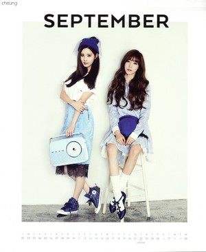 Tiffany and Seohyun (SNSD) - 2015 Calendar