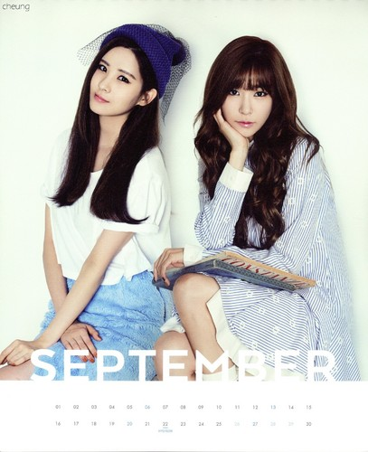 Tiffany Hwang fondo de pantalla containing a portrait called Tiffany and Yuri (SNSD) - 2015 Calendar
