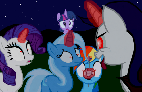 My Little pony Friendship is Magic achtergrond with anime titled Trixie Hypnotized