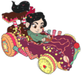Vanellope Racing - wreck-it-ralph fan art