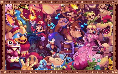 Super Smash Bros. Brawl karatasi la kupamba ukuta entitled Wallpaper...maybe