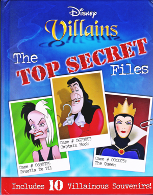 Walt disney Book Covers - disney Villains: The parte superior, arriba Secret Files