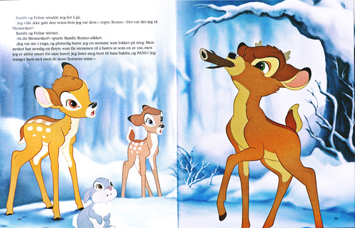 Karakter Walt Disney kertas dinding possibly with Anime entitled Walt Disney Book imej - Bambi, Thumper, Faline & Ronno