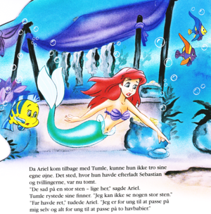 Walt Disney Book Bilder - flunder & Princess Ariel