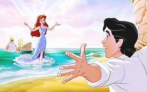 Walt Disney Book images - King Triton, Princess Ariel & Prince Eric