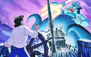 Walt Disney Book Images - Prince Eric & Ursula
