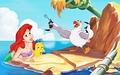 Walt Disney Book Images - Princess Ariel, Flounder & Scuttle - walt-disney-characters photo