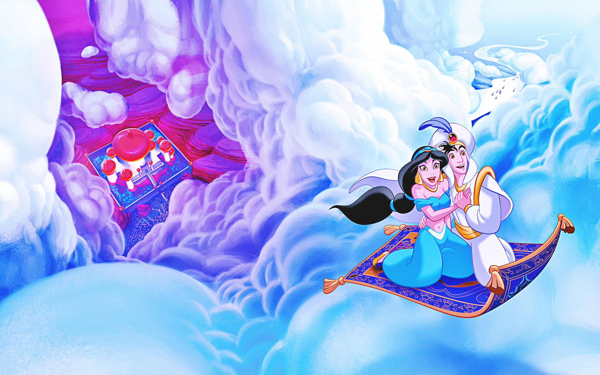 Walt disney characters images walt disney book images for Aladdin and jasmine on carpet wallpaper