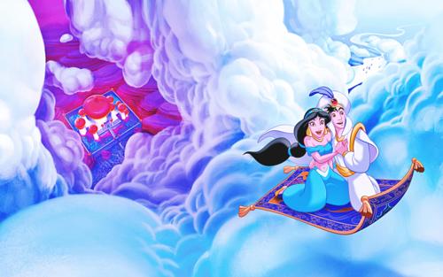Aladdin And Jasmine On Carpet Carpet Vidalondon