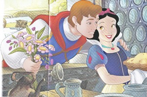 Walt disney Book gambar - The Prince & Princess Snow White