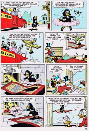 Walt ডিজনি Comics - Scrooge McDuck: Rug Riders In The Sky (Danish Edition)