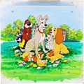 Walt Disney Production Cels - Jock, Trusty, The Tramp, Lady, Scamp, Annette, Danielle & Collette