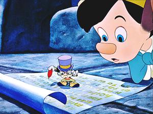 Walt disney Screencaps - Jiminy Cricket & Pinocchio
