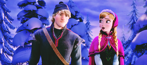 Walt Disney Screencaps - Kristoff Bjorgman & Princess Anna