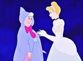 Walt Disney Screencaps - The Fairy Godmother & Princess cinderella