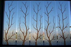 Window glass painting