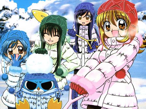 Mermaid Melody Hintergrund with Anime entitled Winter Meerjungfrauen