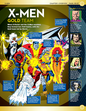 X-men Team Line-Up: Gold Team
