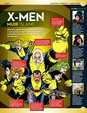 X-men Team Line-Up: Muir Island