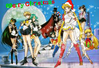Sailor Moon fond d'écran containing animé called a sailor moon christmas