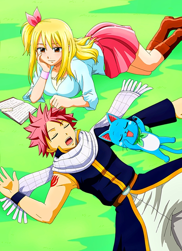 Fairy Tail karatasi la kupamba ukuta with anime titled fairy tail couple