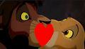 kiss !        - the-lion-king-2-simbas-pride fan art