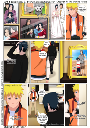 Naruto at sasuke house