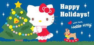 hello kitty merry Weihnachten