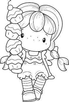 kawaii cupcake girl