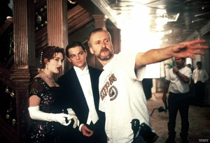 on the set of titanic