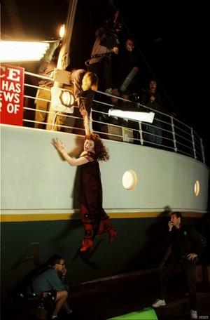 on the set of titanic