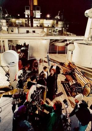 on the set ok Titanic