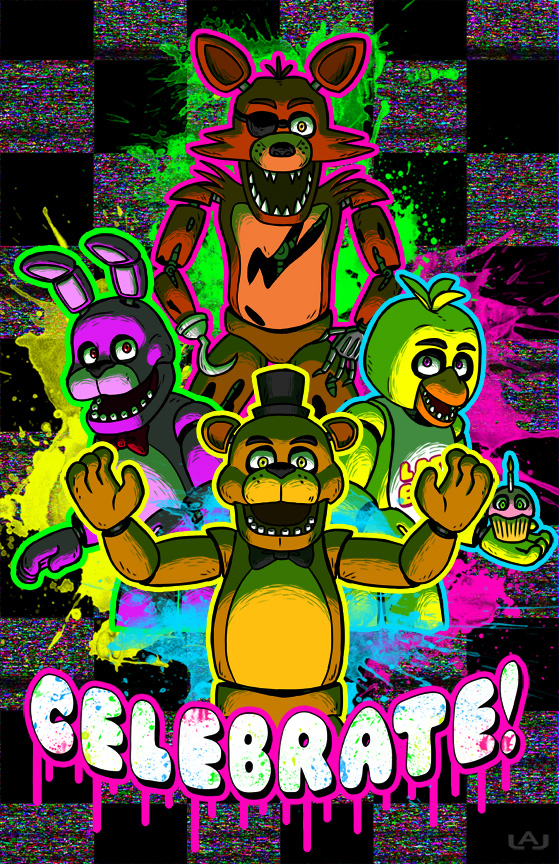 Colorful fever images rainbow look fnaf hd wallpaper and background