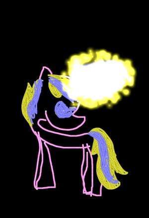 the glow pony!