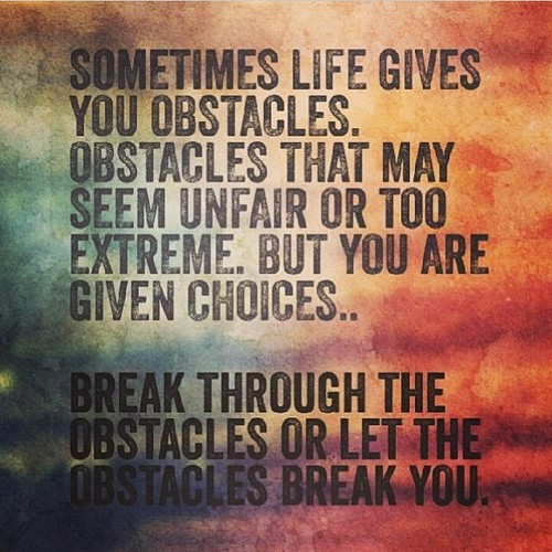 Famous Quotes On Life Challenges: Obstacle Quotes Famous. QuotesGram