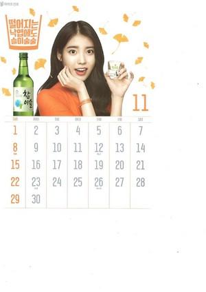 [SCANS] ইউ Chamisul Soju 2015 Calendar.