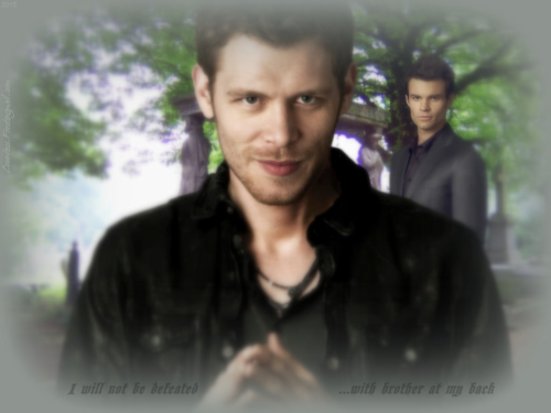 Vampire Diaries – Fernsehserie Hintergrund probably with a portrait titled ...with brother at my back