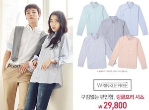 """150122 IU UNIONBAY Korea website """"Wrinkle Free"""" shirt ad"""