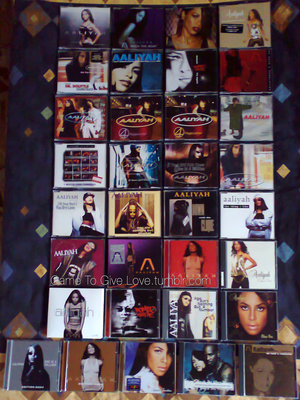 A piece of my Aaliyah CDs collection ♥
