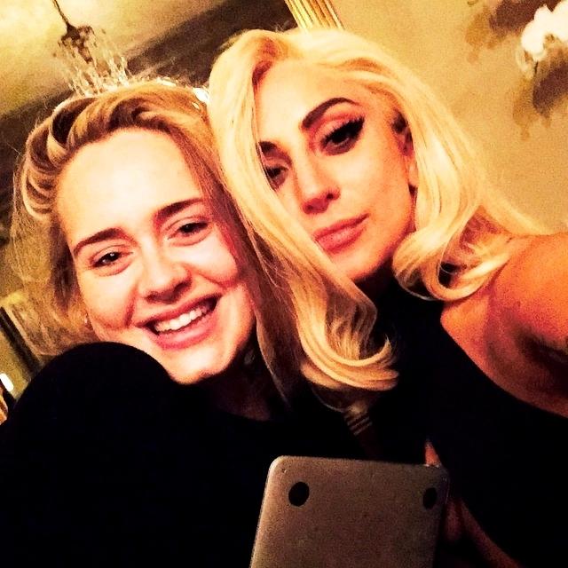 Adele with Lady Gaga